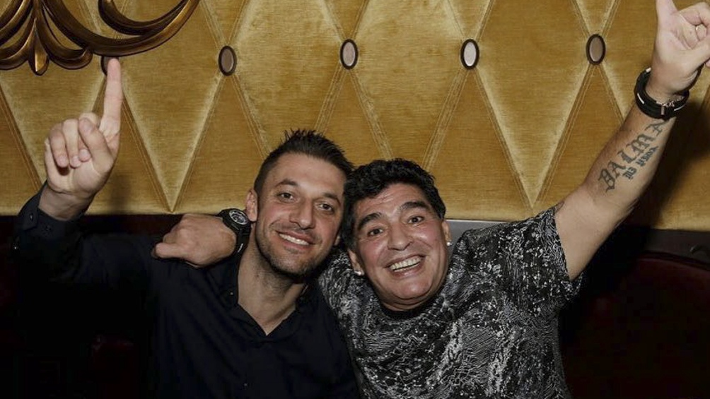 Diego junto al abogado Morla