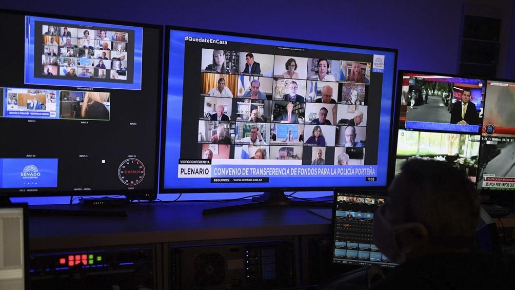 Los senadores debatirán mediante el sistema de videoconferencia