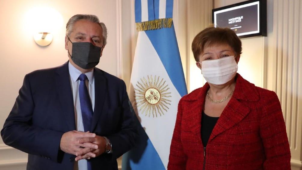 """""""Kristalina Georgieva se reunió con el presidente Alberto Fernández unas pocas semanas atrás y se comprometieron a continuar trabajando juntos en un programa de apoyo del FMI que pueda ayudar a la Argentina""""."""