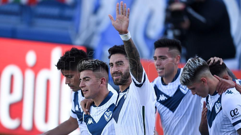 Juan Lucero marcó en el triunfo de Vélez en Junín. (Foto: Fernando Gens).